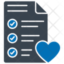 Wishlist Heart List Icon
