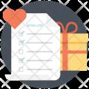 Wishlist Gift List Icon