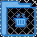 Basket Shopping Folder Icon