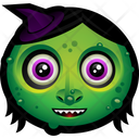 Witch Hat Zombie Icon