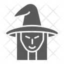 Witch Halloween Face Icon