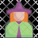 Witch Halloween Magic Icon
