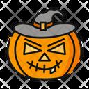Witch Pumpkin Halloween Icon
