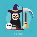 Witch Ghost Skull Icon