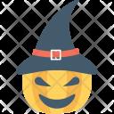 Witch Pumpkin Hat Icon