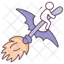 Witchy Broom Broomstick Cleaning Broom Icon