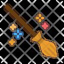 Broomstick Broom Magic Icon