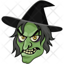 Witch Face Wizard Icon
