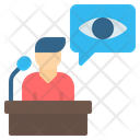 Witness Eyewitness Podium Icon