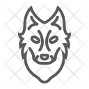 Wolf Dog Face Icon