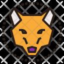 Wolf Dog Head Icon