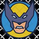 Wolverine Warrior Superhero Icon