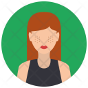 Red Haired Woman Icon