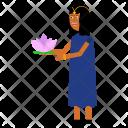 Lotus Woman Celebrate Icon