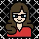 Secretary Woman Business Icon