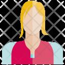 Woman Face Profile Icon