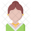 Woman Earrings Pendant Icon