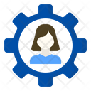 Woman Management Resources Icon