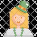 Woman Saint Patricks Day Patrick Icon