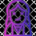 Avatar Gesture Girl Icon