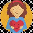 Woman Help Heart Icon