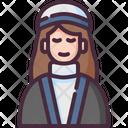 Woman Winter Earmuffs Icon