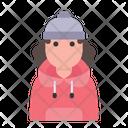 Winter Avatar User Profile People Woman Icon