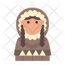 Winter Avatar User Profile People Woman Eskimo Icon