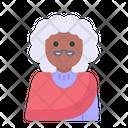 Winter Avatar User Profile People Woman Elder Icon