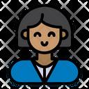 Woman Laboratory Biologist Icon