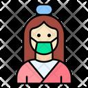Woman Massage Care Icon