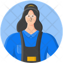 Woman Employee Cashier Icon