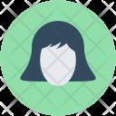 Woman Face Head Icon