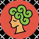 Woman Head Hair Icon