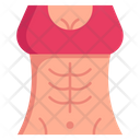 Woman Abs Icon