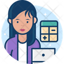 Woman Accountant Icon