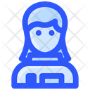 Woman Astronaut Space Icon