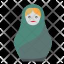 Woman Blondi Matrehska Icon