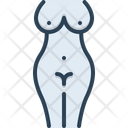 Nude Naked Stripped Icon