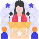Woman Candidate President Boss Icon