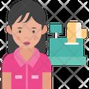 Woman Cashier Female Cashier Woman Icon