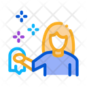 Woman Cleaning Service Icon