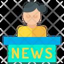 News Anchor Anchor Female Anchor Icon