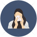 Woman Cough Icon