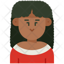 Woman Curly Icon