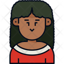 Woman Curly Hair User Icon