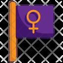 Woman Day Flag Women Day Flag Icon