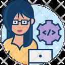 Woman Developer Icon