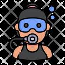 Woman Diver Icon