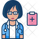 Woman Doctor Female Doctor Doctor Icon